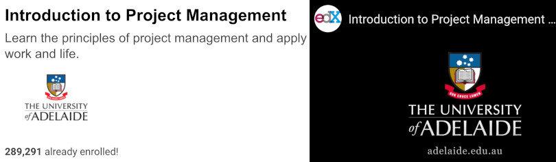 Image Project Management Courses - Introduction Project Management edX