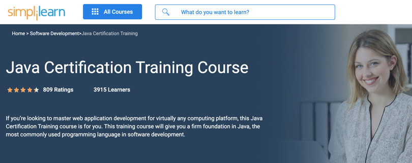 Image Java Courses Online - Java Certification Training Course, Simplilearn
