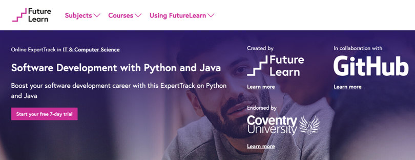 Image Java Courses Online - Software Development with Java, Python, FutureLearn