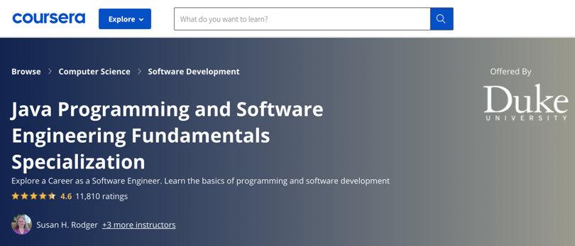 Image Java Courses Online - Java Programming & Software Engineering, Coursera