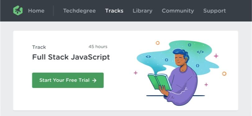 Image Javascript Courses - Full Stack JavaScript, Treehouse