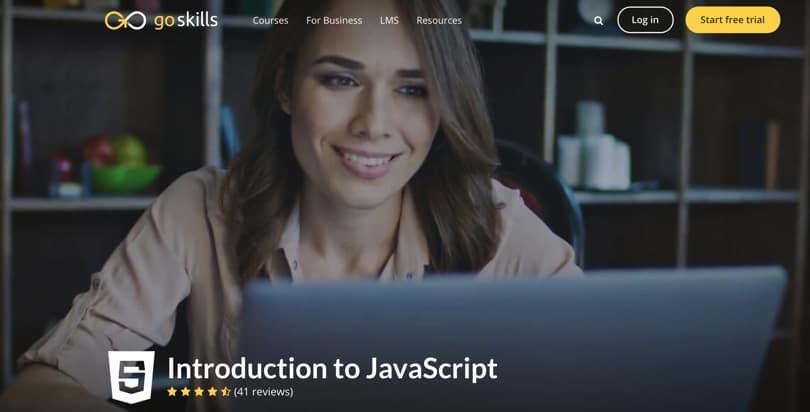 Image Javascript Courses - Introduction JS, GoSkills