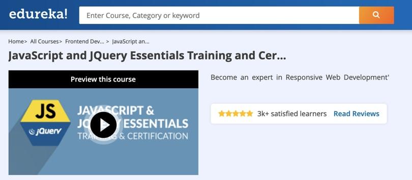 Image Javascript Courses - JS and jQuery Training, Certification, edureka