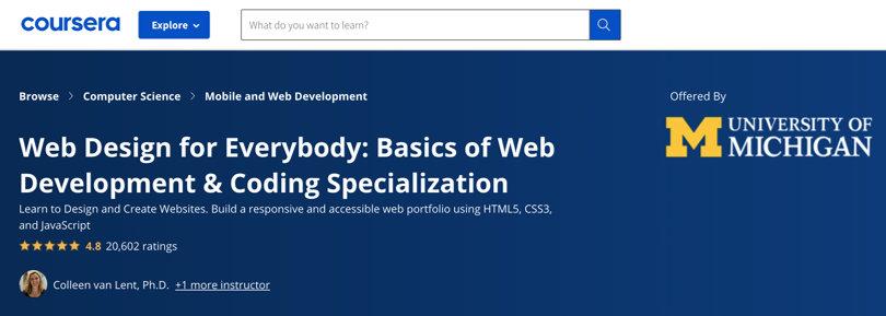 Image Javascript Courses - JS web design development, Coursera