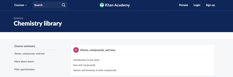 Image of Best Khan Academy Courses - Chemistry