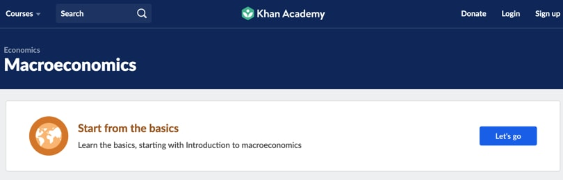 Image of Best Khan Academy Courses - Macroeconomics