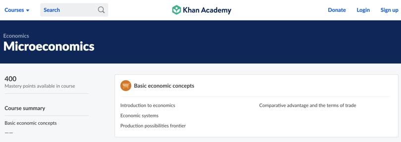 Image of Best Khan Academy Courses - Microeconomics