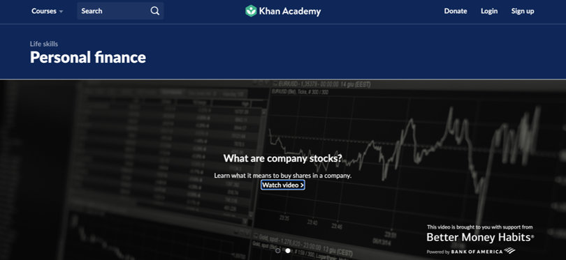 Image Personal Finance Courses - Khan Academy - Personal Finance