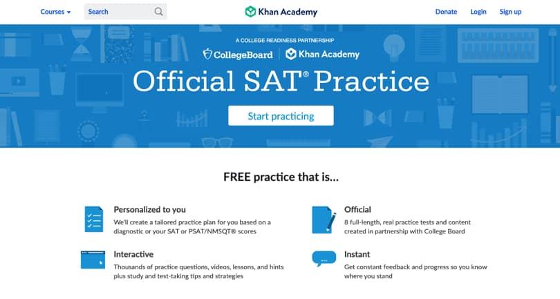 Image Khan Academy Review - Screenshot - SAT Program