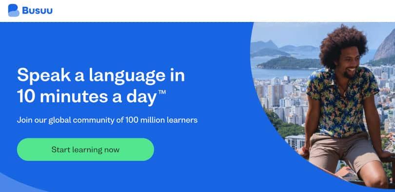 Image Best language courses online - Busuu