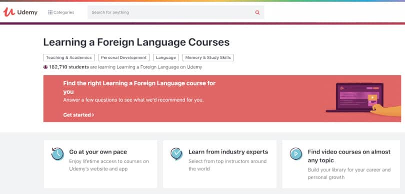Image Best language courses online - Udemy