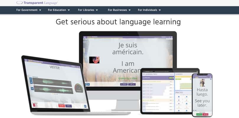 Image Best language courses online - Transparent Language