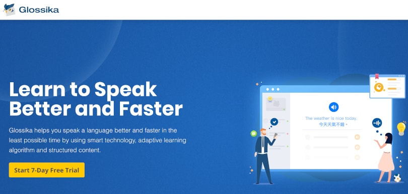 Image Best language learning courses - Glossika