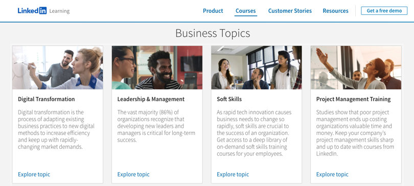 Image LinkedIn Learning Review - Category Business