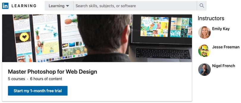 Image Best Photoshop Courses - Web Design - LinkedIn