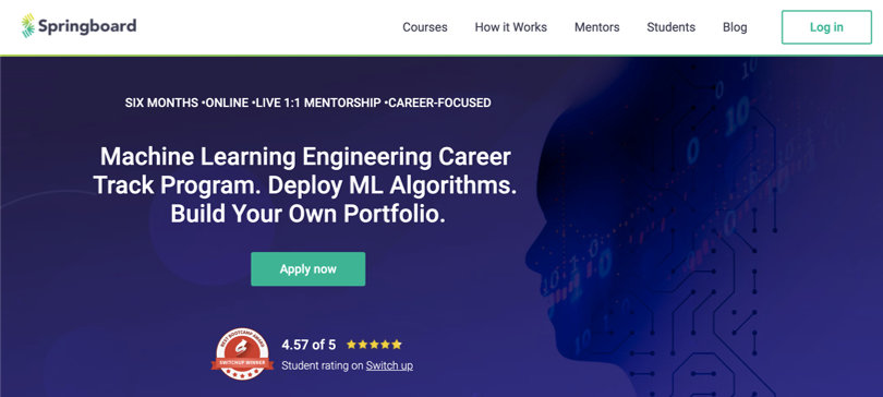 Image Machine Learning Courses Online - Machine Learning Engineering, Springboard