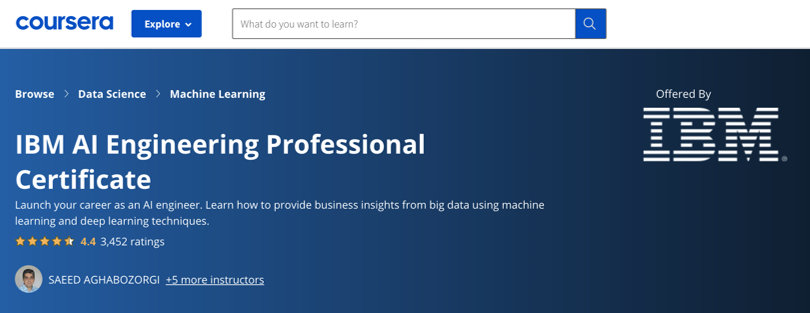 Image Machine Learning Courses Online - Machine Learning, IBM Certification, Coursera
