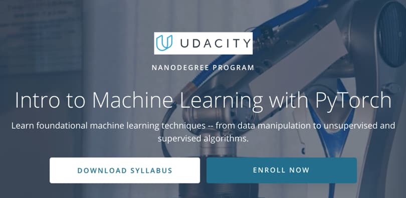 Image Machine Learning Courses Online - Machine Learning with PyTorch, Udacity