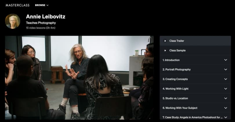 Image Best Photography Courses - Annie Leibovitz Teaches Photography - Masterclass