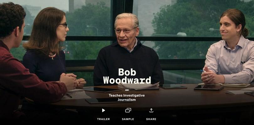 Image Best Masterclass Courses - Bob Woodward Teaches Journalism