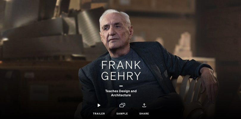 Image Best Masterclass Courses - Frank Gehry Teaches Architecture, Design