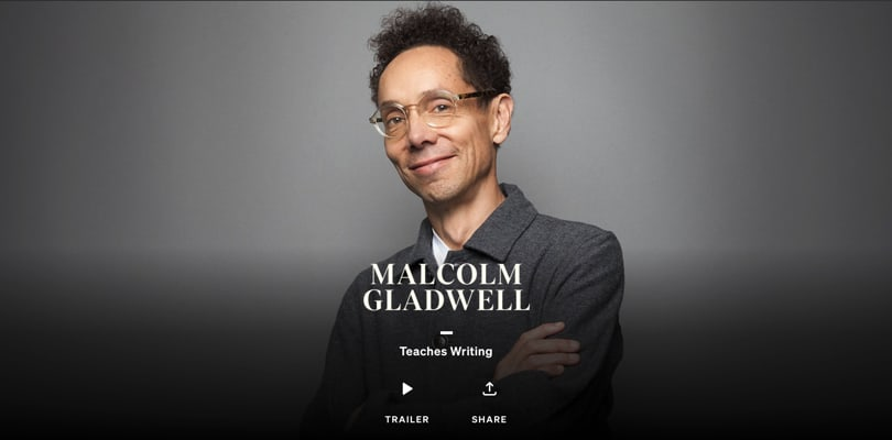 Image Best Masterclass Courses - Malcolm Gladwell Teaches Writing