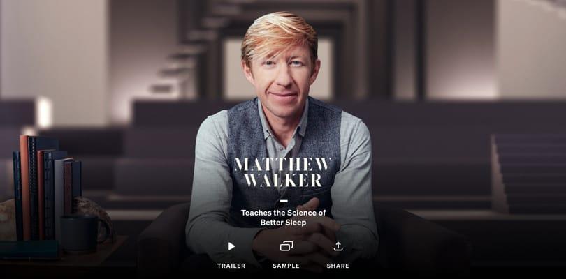 Image Best Masterclass Courses - Matthew Walker Teaches Science of Sleep