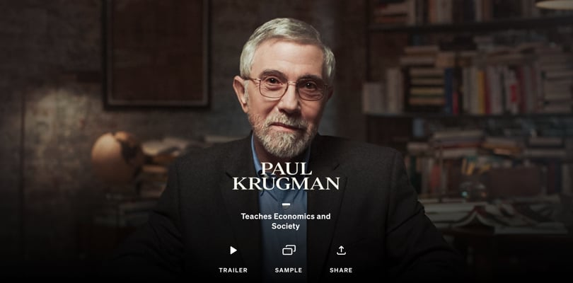 Image Best Masterclass Courses - Paul Krugman Teaches Economics & Society