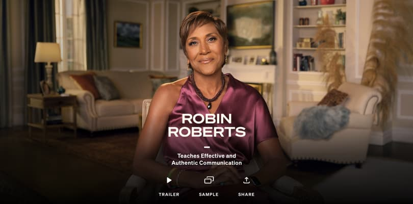 Image Best Masterclass Courses - Robin Roberts Teaches Effective Communication