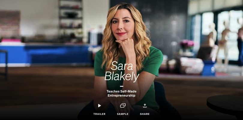 Image Best Masterclass Courses - Sara Blakely Teaches Entrepreneurship