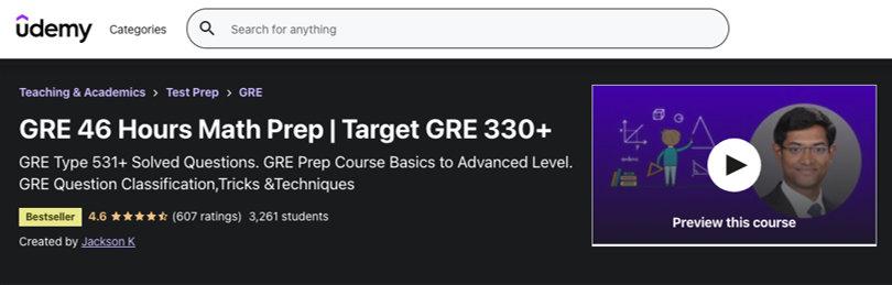 Image Best GRE Courses - Udemy GRE Prep