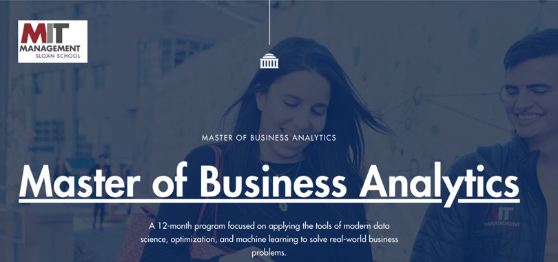 Image Business Analytics Courses - MIT Business Analytics Masters