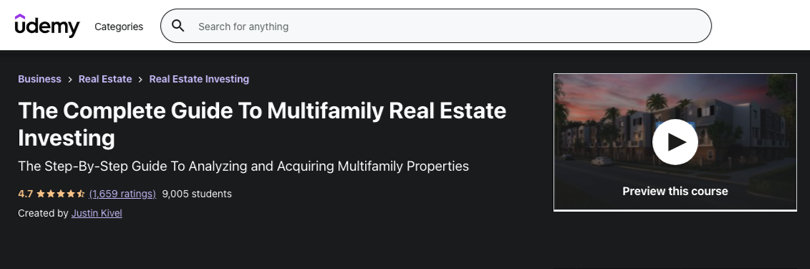 Image Real Estate Courses - Guide to Multifamily Real Estate Investing, Udemy