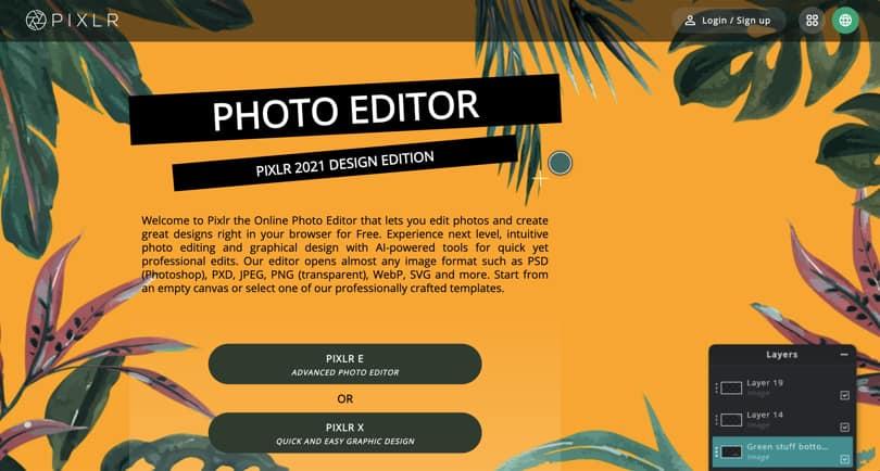 Image Pixlr Online Graphic Design Software