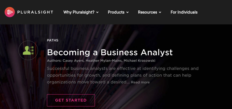 Image Business Analytics Courses - Pluralsight Business Analyst