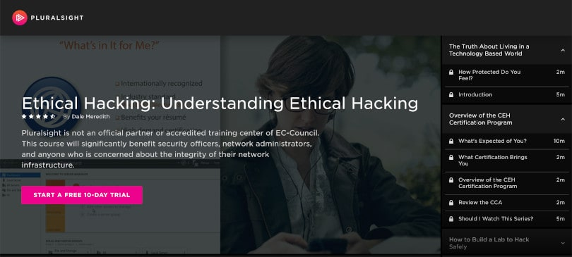 Image of Best Pluralsight Courses - Ethical Hacking