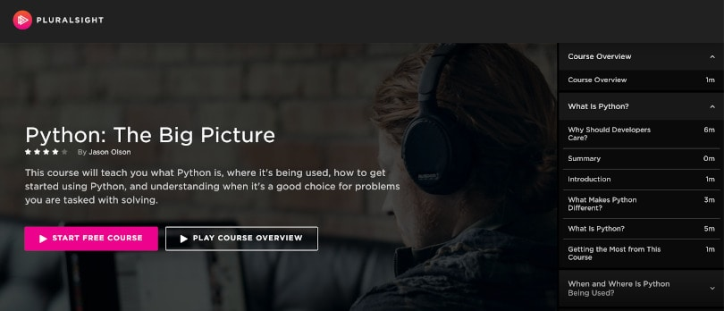 Image of Best Pluralsight Courses - Python: The Big Picture