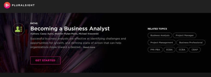 Image of Best Pluralsight Learning Paths - Business Analyst