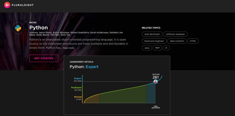 Image of Best Pluralsight Learning Paths - Python