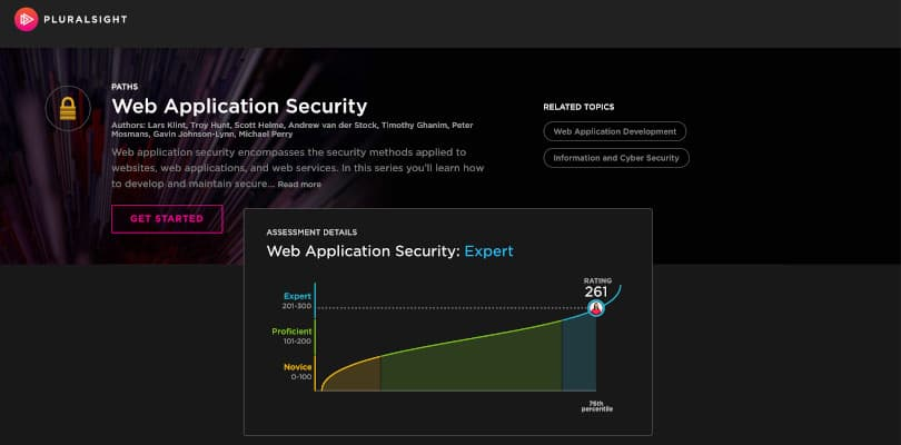 Image of Best Pluralsight Learning Paths - Web Application Security