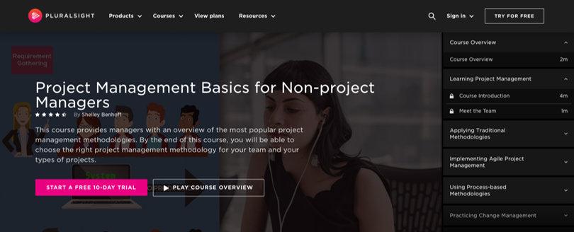 Image Pluralsight Review - Screenshot Individual Class Topic