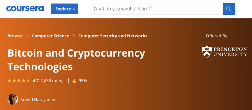 princeton bitcoin and cryptocurrency technologies course