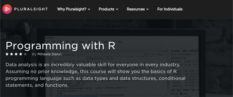 Image R Courses Online - Programming with R, Pluralsight