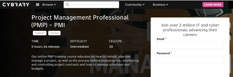 Image Project Management Courses - Project Management Professional Cybrary