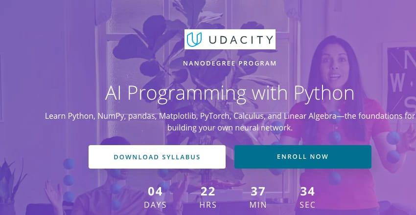Image Python Courses - AI Programming with Python, Udacity