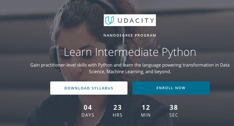 Image Python Courses - Learn Intermediate Python, Udacity