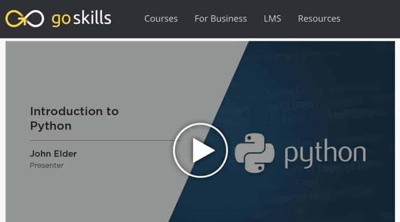Image Python Courses - Introduction To Python - GoSkills