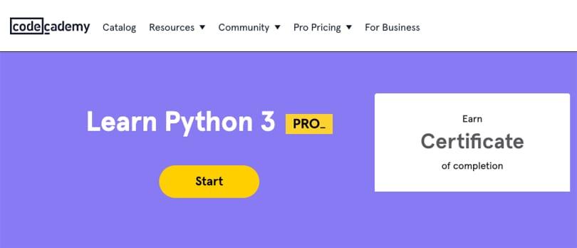 Image Python Courses - Learn Python 3, codecademy