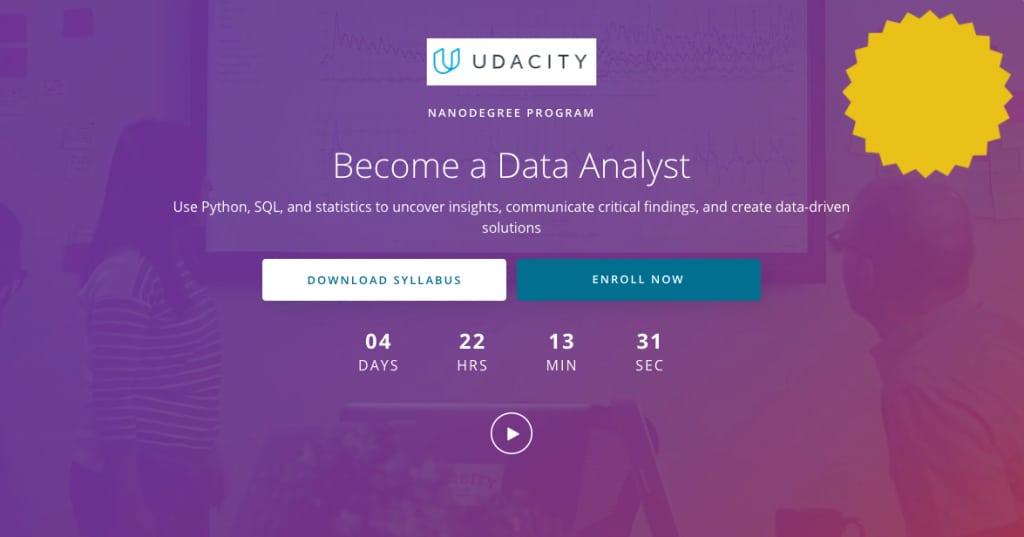 Image Python Courses - Become a Python Analyst, Udacity