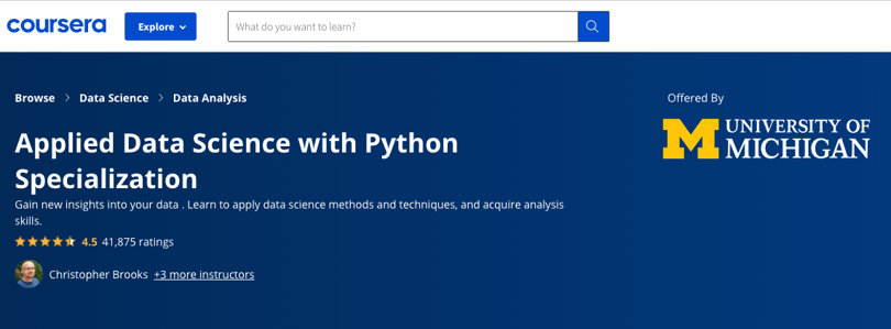 Image Python Courses - Python Specialization, Coursera